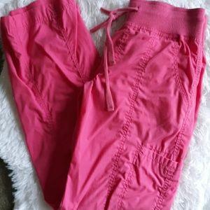 Pink Cargo Scrub Pants